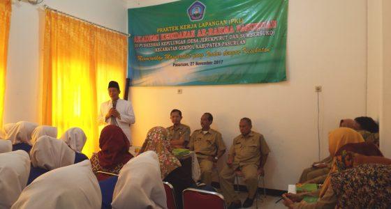 Pembukaan Praktek Kerja Lapangan (PKL)